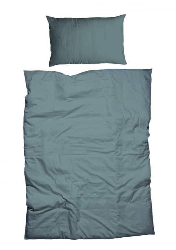 Bettdeckenbezug und Kissenbezug in fichtengrün